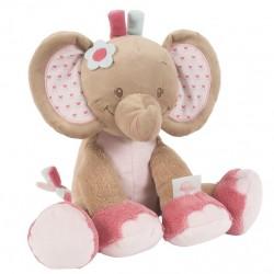 Peluche Rose l'éléphant , Nattou : Bebe-star