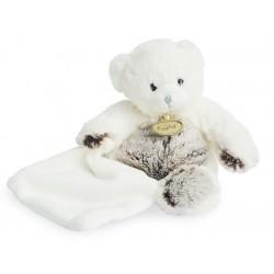 Doudou Les Flocons peluche ours blanc