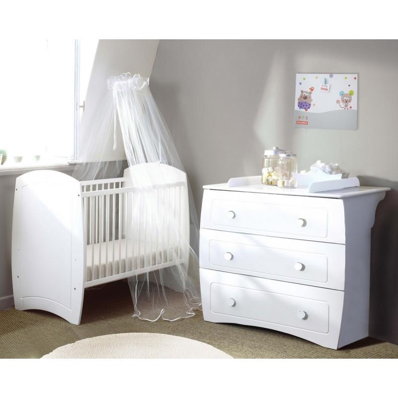 Chambre compl te ludo blanc poyet motte bebe star for Mobilier de chambre complet
